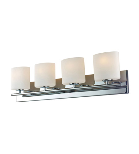 Alico BV8T4-10-15-R Chelsea 4 Light 33 inch Chrome Vanity Wall Light photo