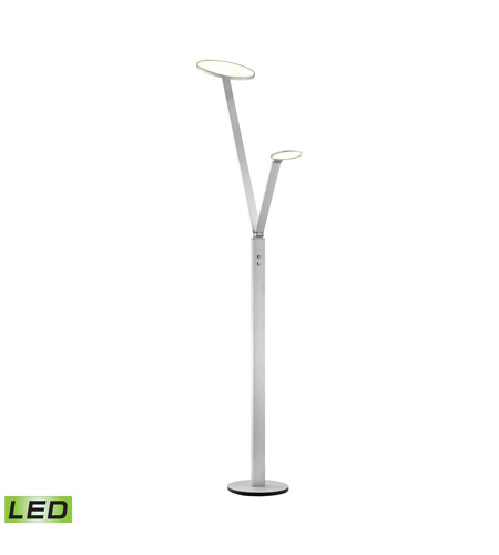 Alico FLL161-95-85 Disc 52 inch 15 watt Aluminum Floor Lamp Portable Light photo