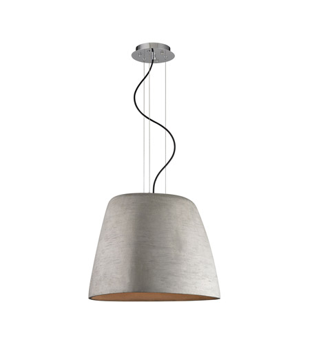 Alico LC200-140-15 Triangle 1 Light 19 inch Chrome and Concrete Pendant Ceiling Light photo