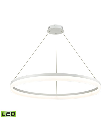 Alico LC2401-N-30 Cycloid LED 40 inch Matte White Pendant Ceiling Light photo