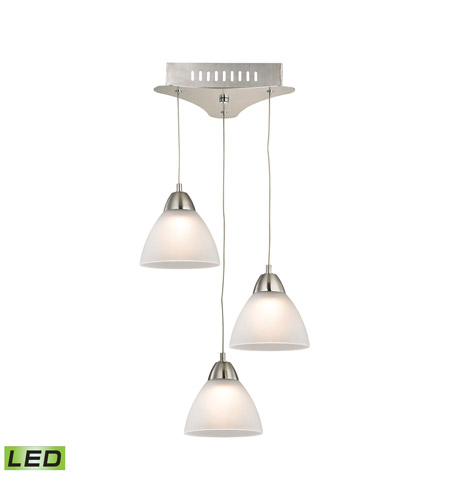 Alico LCA303-10-16M Piatto LED 11 inch Satin Nickel Pendant Ceiling Light photo
