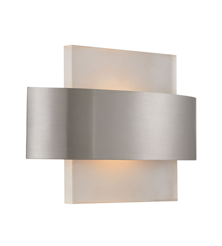 Alico Cintura 1 Light Sconce in Matte Satin Nickel with Sandblasted Starfire Glass WS9010-10-16M photo