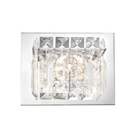 Alico Crown 1 Light Vanity in Chrome with Clear Crystal Glass BV1001-0-15