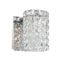 Alico Queen 1 Light Vanity in Chrome with Clear Crystal Glass BV1301-0-15