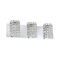 Queen 3 Light 20 inch Chrome Vanity Wall Light