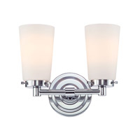 Madison 2 Light 11 inch Chrome Vanity Wall Light