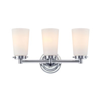 Madison 3 Light 17 inch Chrome Vanity Wall Light