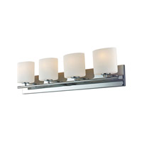 Alico BV8T4-10-15-R Chelsea 4 Light 33 inch Chrome Vanity Wall Light photo thumbnail