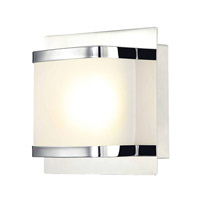 Alico Bandeau 1 Light LED Vanity in Chrome with Rounded Glass BVL4001-10-15