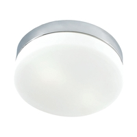 Disc 11 inch Metallic Grey Flush Mount Ceiling Light