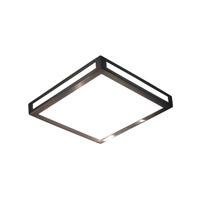 Alico Eurolite Square 1 Light LED Flushmount in Metallic Grey with White Opal Polypropylene Diffuser FML3000-10-16M