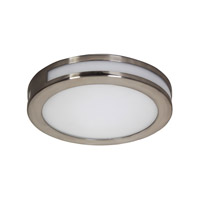 Alico Eurolite Round 1 Light LED Flushmount in Satin Nickel with White Opal Polypropylene Diffuser FML3010-10-16M