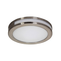 Alico Eurolite Round 1 Light LED Flushmount in Satin Nickel with White Opal Polypropylene Diffuser FML3011-10-16M