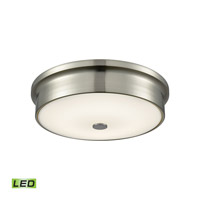 Towne LED 12 inch Satin Nickel Flush Mount Ceiling Light