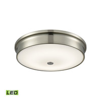 Towne LED 15 inch Satin Nickel Flush Mount Ceiling Light