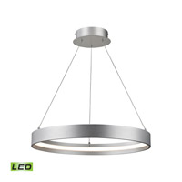 Alico Galleria LED Pendant in Aluminum with Round Metal Shade in Aluminum LC1210-10-98