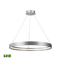 Alico Galleria 30.5-inch LED Pendant in Aluminum with Round Metal Shade in Aluminum LC1215-10-98