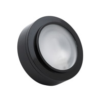 Alico Zeepuk 1 Light Cabinet Light in Black with Frosted Glass Diffuser MZ401-5-31