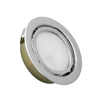 Alico MiniPot Premium 1 Light Cabinet Light in Chrome with Frosted Glass Diffuser MZ701-5-15