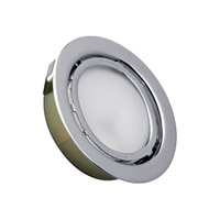 Alico MiniPot Premium 1 Light Cabinet Light in Stainless Steel with Frosted Glass Diffuser MZ701-5-16
