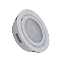 Alico MiniPot Premium 1 Light Cabinet Light in White with Frosted Glass Diffuser MZ701-5-30