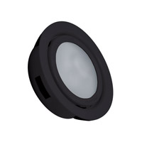 Alico MiniPot Premium 1 Light Cabinet Light in Black with Frosted Glass Diffuser MZ701-5-31