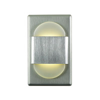 Alico EZ Step 1 Light LED Steplight in Brushed Aluminum with White Opal Acrylic Diffuser WLE105DR32K-10-98