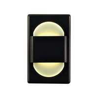 Alico EZ Step 1 Light LED Steplight in Bronze with White Opal Acrylic Diffuser WLE105DR32K-10-B