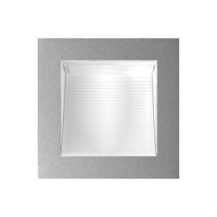 Alico Scoop 1 Light LED Steplight in Metallic Grey with Corrugated Reflector WLE126C32K-N-95