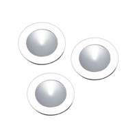 Alico Polaris 1 Light LED Cabinet Light in White with Frosted Glass Lens WLE140C32K-0-30-3