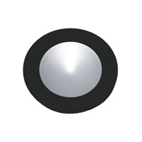 Alico Polaris 1 Light LED Cabinet Light in Black with Frosted Glass Lens WLE140C32K-0-31