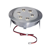 Alico Tiro 6 Light LED Cabinet Light in Brushed Aluminum with Clear Acrylic Lenses WLE223C32K-0-98