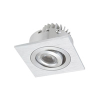 Alico Squared 1 Light LED Cabinet Light in Brushed Aluminum with Clear Acrylic Lens WLE601C32K-0-98