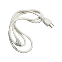 Alico Zeestick Cabinet Lighting Cord and Plug in White ZSPLUG-N-30