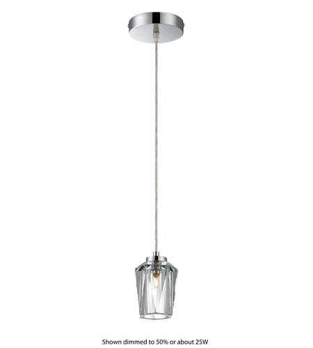 Alternating Current Ginsu 1 Light Mini Pendant in Chrome AC1000 photo