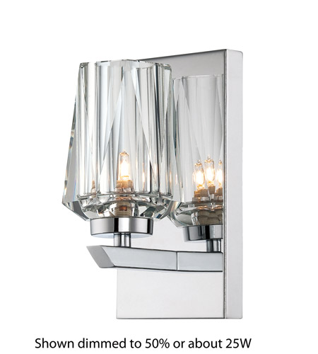 Alternating Current AC1001 Ginsu 1 Light 4 inch Chrome Vanity Wall Light photo