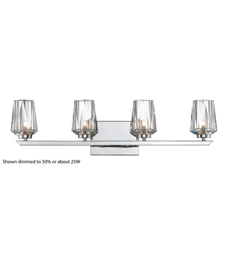 Alternating Current Ginsu 4 Light Vanity in Chrome AC1004 photo