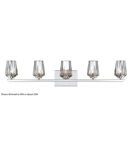 Alternating Current Ginsu 5 Light Vanity in Chrome AC1005 photo