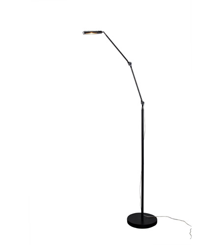 Alternating Current Assist 1 Light Floor Lamp in Black AC1234 photo