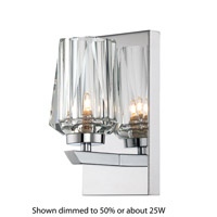 Alternating Current Ginsu 1 Light Vanity in Chrome AC1001