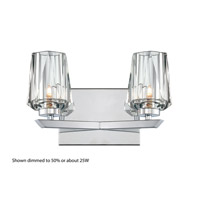 Alternating Current Ginsu 2 Light Vanity in Chrome AC1002
