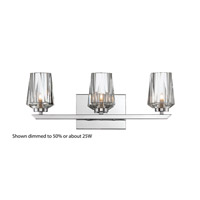 Ginsu 3 Light 20 inch Chrome Vanity Wall Light
