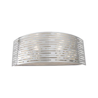 Alternating Current Dashing 2 Light Vanity in Polished Stainless Steel AC1202
