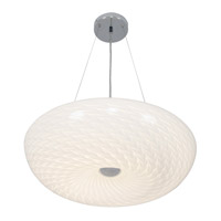 Alternating Current Swirled LED Pendant in Chrome AC1536