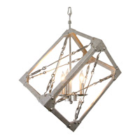 Alternating Current Askew 3 Light Pendant in Silver Age AC1545
