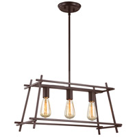 Hashtag 3 Light 24 inch New Bronze Linear Pendant Ceiling Light
