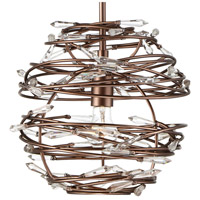 Alternating Current AC1615 Offshoot 1 Light 12 inch Bronze Pendant Ceiling Light, Premium Pre-Installed Crystal alternative photo thumbnail