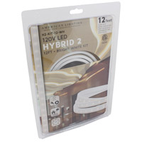 American Lighting H2-KIT-12-WH Hybrid 2 White 5000K 144 inch Tape Light Kit