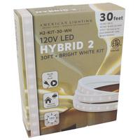 American Lighting H2-KIT-30-WH Hybrid 2 White 5000K 360 inch Tape Light Kit