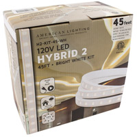 American Lighting H2-KIT-45-WH Hybrid 2 White 2700K 540 inch Tape Light Kit